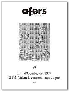 EL 9 D'OCTUBRE DEL 1977. EL PAÍS VALENCIÀ QUARANTA ANYS DESPRÉS