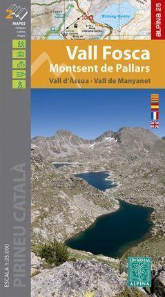 VALL FOSCA 1:25.000 MONTSENT DE PALLARS -ALPINA